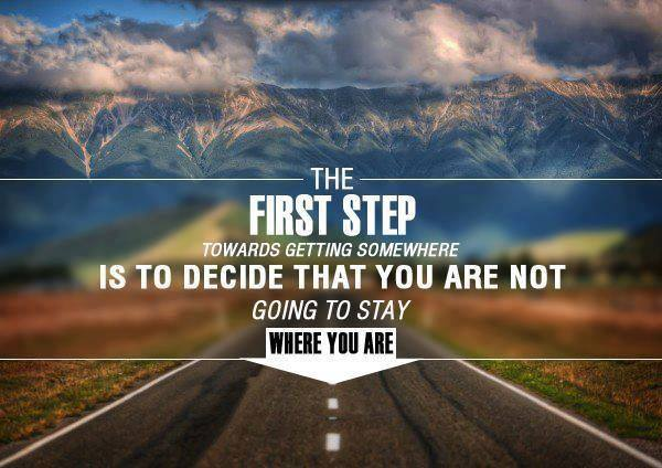 the first step quote